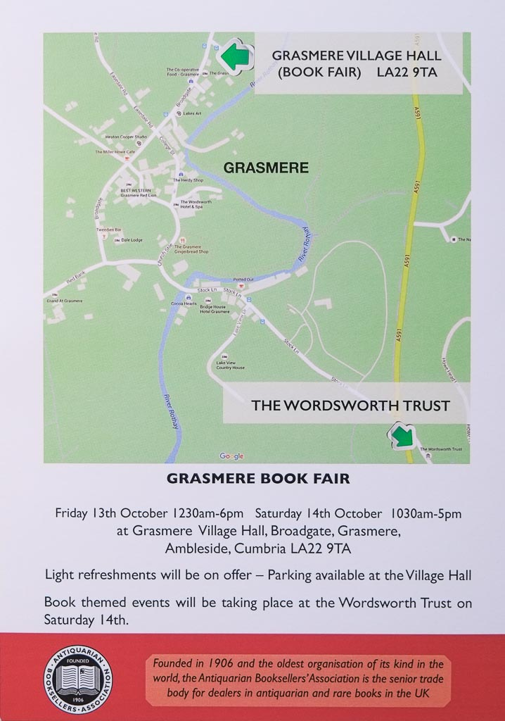 Grasmere Book Fair | Organised by the Antiquarian Booksellers' Association (ABA)