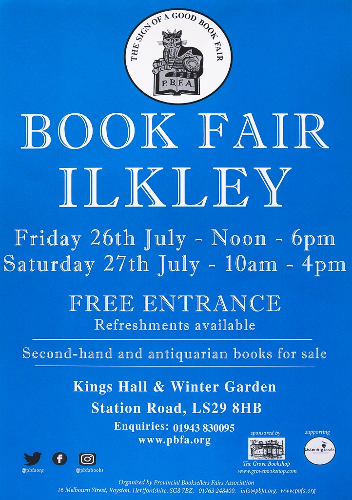 PBFA Ilkley Book Fair 2019