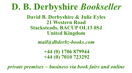 D B Derbyshire Bookseller